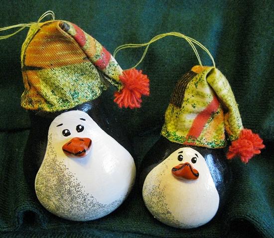Новогодние игрушки своими руками пингвин из лампочки